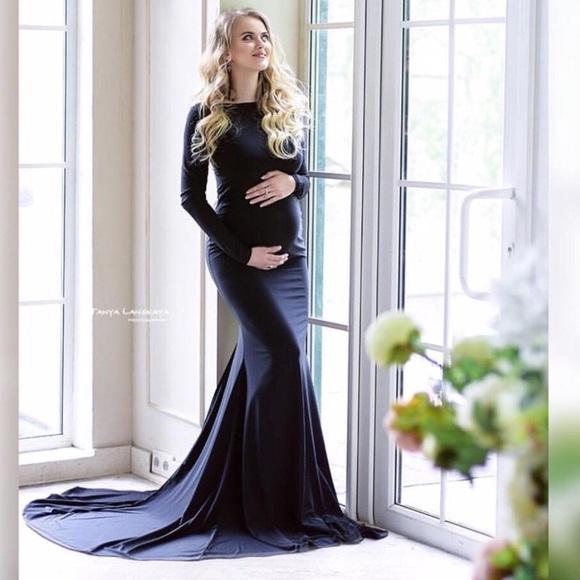 Etsy Handmade Dresses | Black Etsy Maternity Gownfree Necklace ...